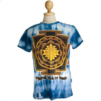 Pánske tričko Sure Sri Yantra Blue | M, L, XL