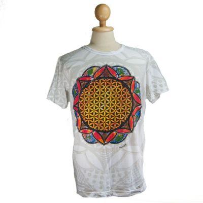 Tričko značky Mirror - Flower of Life White | M, L, XL, XXL