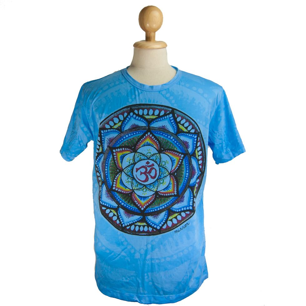 Tričko značky Mirror - Holy Lotus Blue