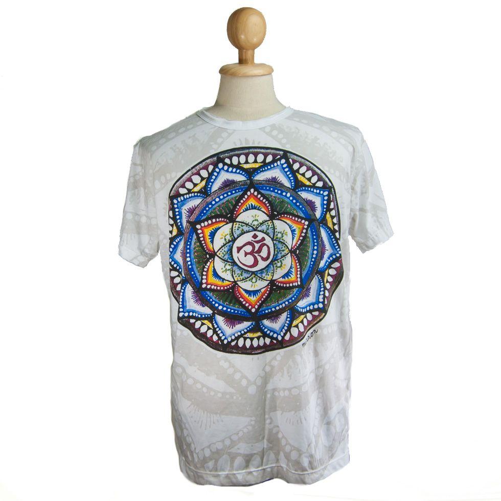 Tričko značky Mirror - Holy Lotus White