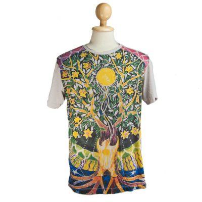Tričko značky Mirror - Magical Tree Beige | M, L, XL, XXL