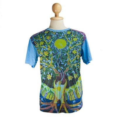 Tričko značky Mirror - Magical Tree Blue | M, L, XL, XXL