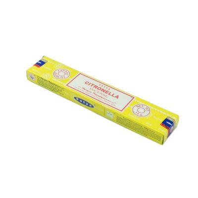 Vonné tyčinky Satya Citronella | Krabička 15 g, Balenie 12 krabičiek za cenu 10