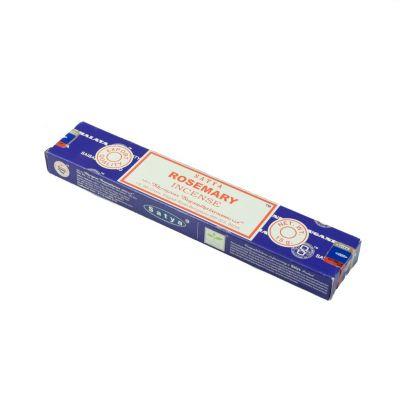 Vonné tyčinky Satya Rosemary | Krabička 15 g, Balenie 12 krabičiek za cenu 10