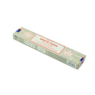 Vonné tyčinky Satya White Sage | Krabička 15 g, Balenie 12 krabičiek za cenu 10