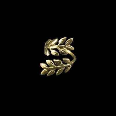 Mosadzný prsteň Laurel Brass