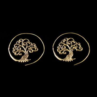 Mosadzné náušnice Tree 4