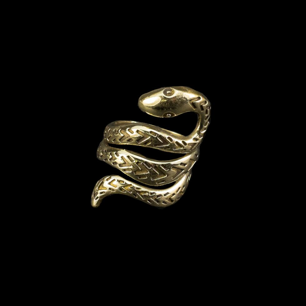 Mosadzný prsteň Viper