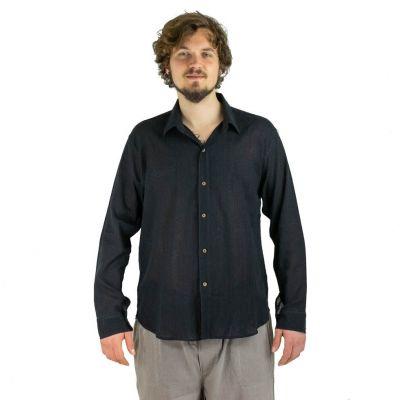 Pánska košeľa s dlhým rukávom tombolu Black | M, L, XL, XXL, XXXL