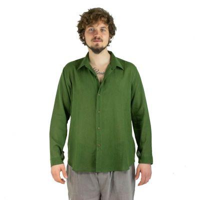 Pánska košeľa s dlhým rukávom tombolu Green | M, L, XL, XXL, XXXL