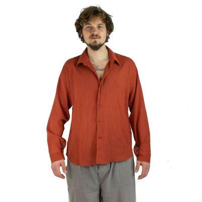 Pánska košeľa s dlhým rukávom tombolu Orange | M, L, XL, XXL, XXXL
