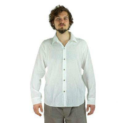 Pánska košeľa s dlhým rukávom tombolu White | M, L, XL, XXL, XXXL