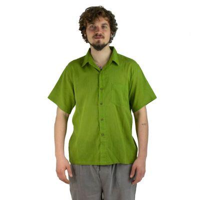 Pánska košeľa s krátkym rukávom Jujur Green | M, L, XL, XXL, XXXL