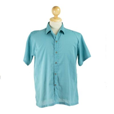 Pánska košeľa s krátkym rukávom Jujur Teal Blue | M, L, XXL, XXXL