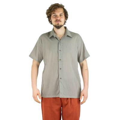 Pánska košeľa s krátkym rukávom Jujur Grey | M, L, XL, XXL