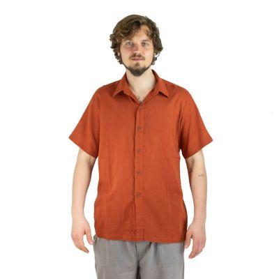 Pánska košeľa s krátkym rukávom Jujur Orange | M, L, XL, XXL, XXXL