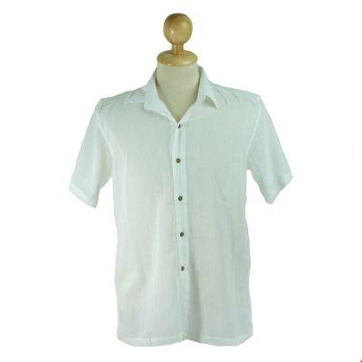 Pánska košeľa s krátkym rukávom Jujur White | L, XL, XXL, XXXL