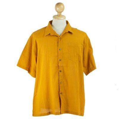Pánska košeľa s krátkym rukávom Jujur Yellow | M, L, XL, XXL, XXXL