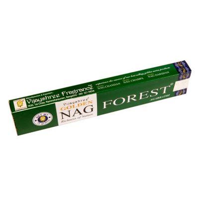 Vonné tyčinky Golden Nag Forest | Krabička 15 g, Balenie 12 krabičiek za cenu 10