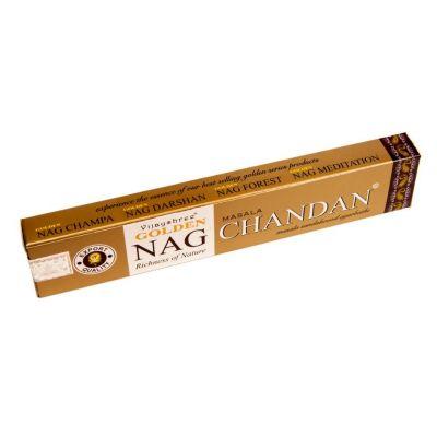 Vonné tyčinky Golden Nag Masala Chandan | Krabička 15 g, Balenie 12 krabičiek za cenu 10