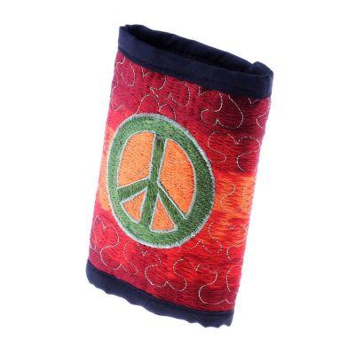 Vyšívaná peňaženka Hippie