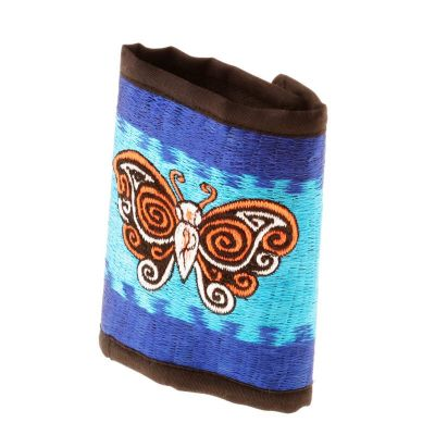 Vyšívaná peňaženka Motýľ na oblohe
