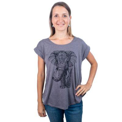Dámske tričko s krátkym rukávom Darika Elephant Grey | UNI