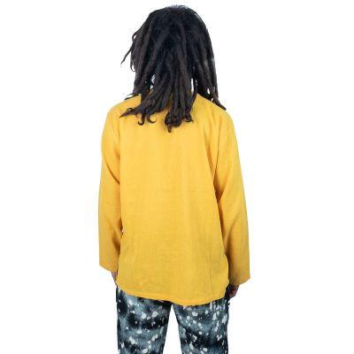 Kurta Abiral Mustard - pánska košeľa s dlhým rukávom Thailand