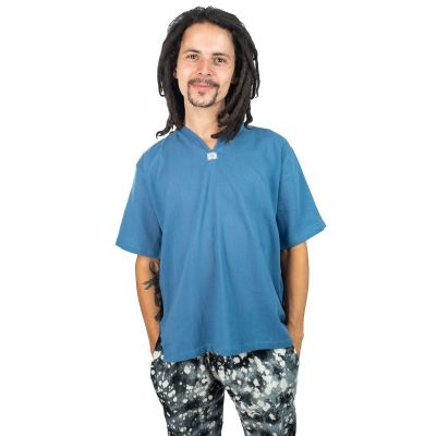 Kurta Lamon Blue - pánska košeľa s krátkym rukávom | M, L, XL, XXL, XXXL