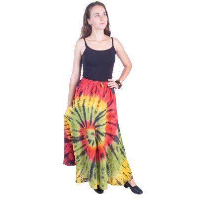 Dlhá batikovaná etno sukne Sejun Cheerful | UNI