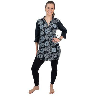 Dlhá dámska košeľa Ermelinda Hitam | S / M, L / XL, XXL