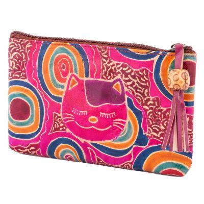 Peňaženka Mačka - fialová