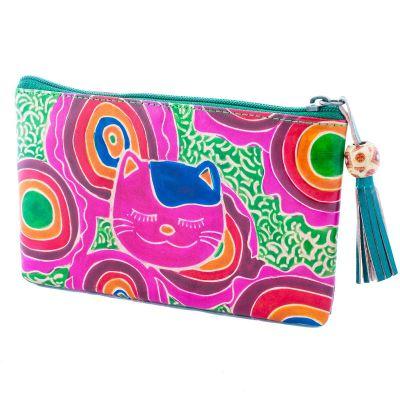 Peňaženka Mačka - zelená