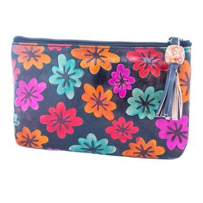 Peňaženka Kvety - čierna