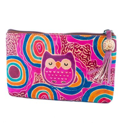 Peňaženka Sova - fialová