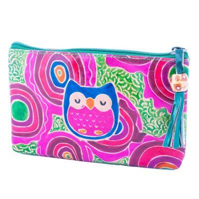Peňaženka Sova - zelená