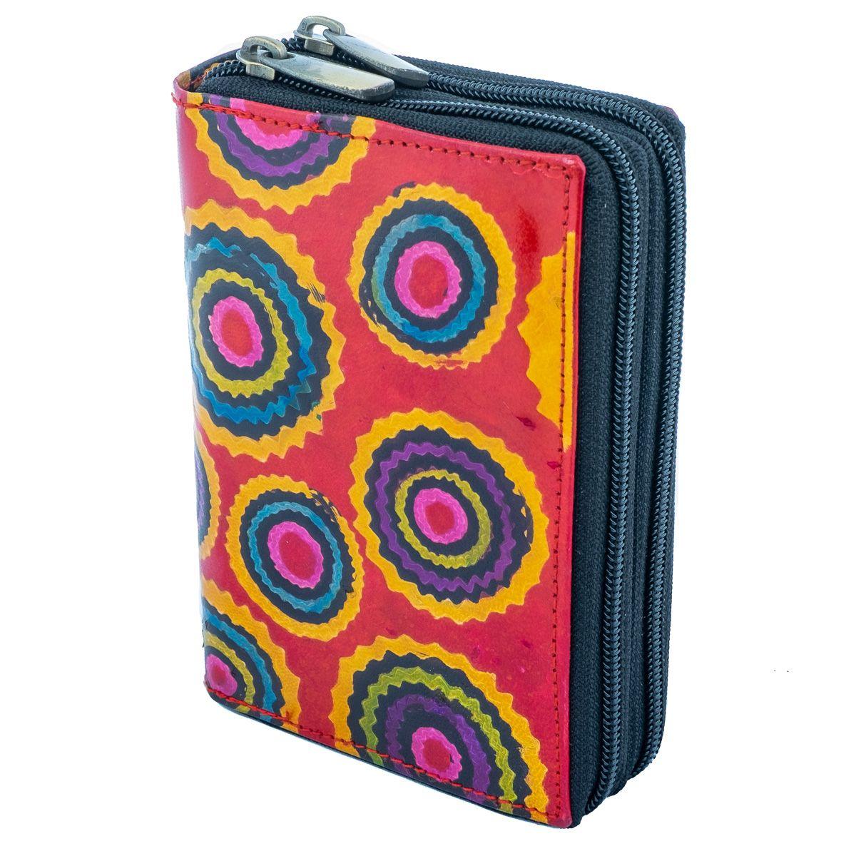 Kožená peňaženka Yauvani - červená