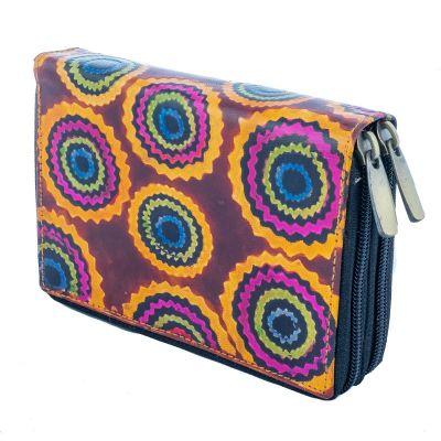 Kožená peňaženka Yauvani - vínová