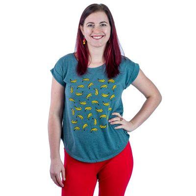Dámske tričko s krátkym rukávom Darika Bananas Green | UNI