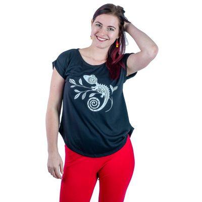Dámske tričko s krátkym rukávom Darika Chameleon Black   UNI