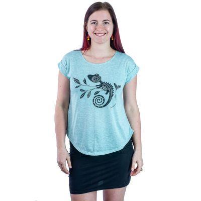 Dámske tričko s krátkym rukávom Darika Chameleon Greenish   UNI