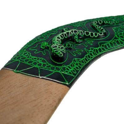 Dekoračné bumerang Zelená jašterica