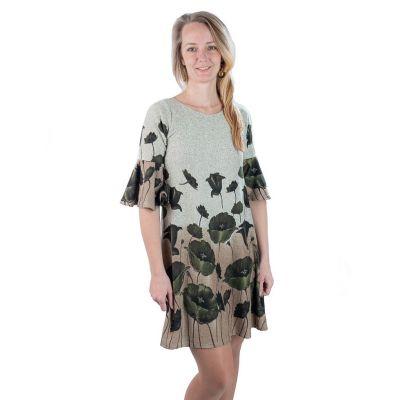 Jarné / jesenné šaty Hijau MADAT Alang   UNI (zodpovedá S / M)