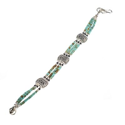 Obrúbený náramok Ratul Turquoise