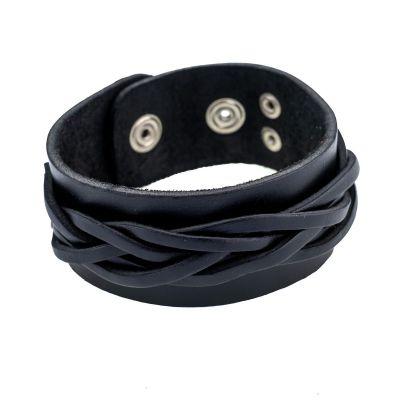 Kožený náramok Anyaman Black