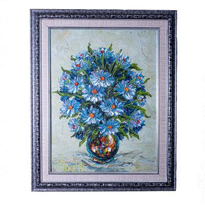 Obraz Váza modrých kvetov
