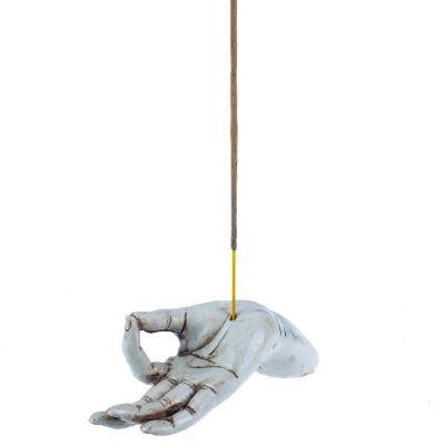 Stojan na vonné tyčinky Ruka - biela