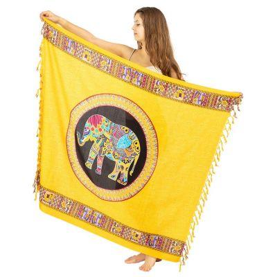 Sarong / pareo Slon žltý