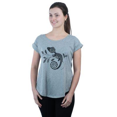 Dámske tričko s krátkym rukávom Darika Chameleon Grey   UNI