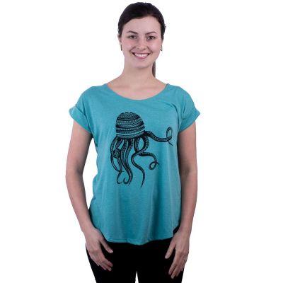 Dámske tričko s krátkym rukávom Darika Octopus Turquoise   UNI
